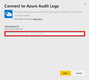 connecting to Azure audit logs