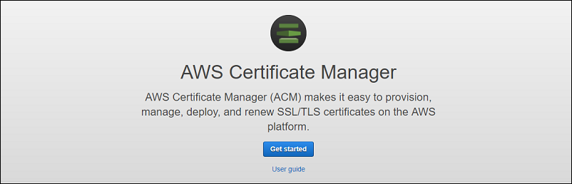 Provide AWS Certificate Manager