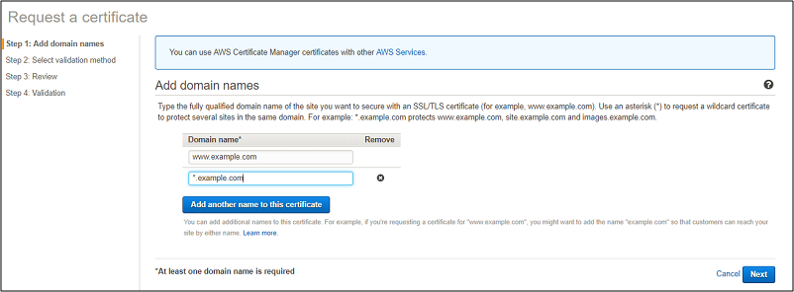 SSL Cerrificate from AWS Certificate Manager