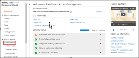 How to enable IAM Access Analyzer