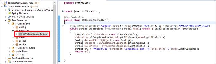 upload webservice